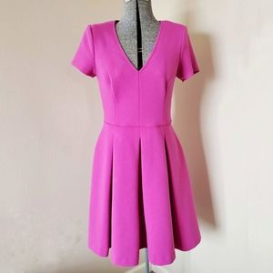 Banana Republic Knit Fuchsia Fit & Flare Dress 4